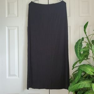 Kathy Ireland Essentials Black Maxi Skirt Size M